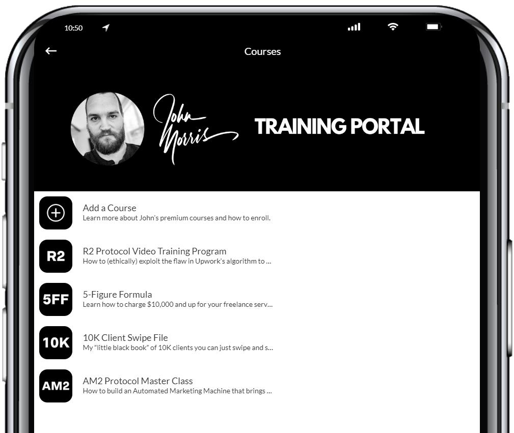 John Morris Training App